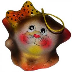 Кошка колокольчик керамика