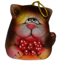 Котик колокольчик керамика