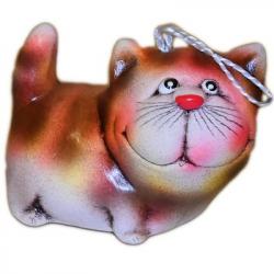 Колокольчик кот керамический