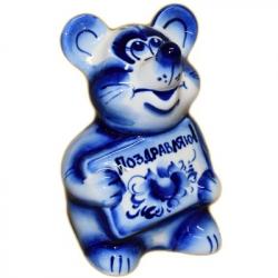 Мышь с открыткой, 10.5 см. арт.2694