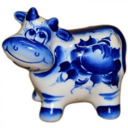 Сувенир корова Гжель, 9 см, 2814