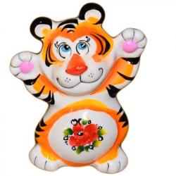 Тигр цветной 9,5 см., 2956