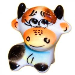 Сувенир бычок цветной 4.3 см, 2835
