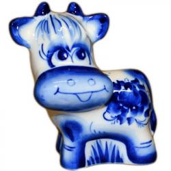 Фигурка корова Гжель, 9 см, 2817