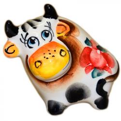 Фигурка бык цветной  6.5 см., 2823