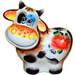 Корова цветная 11 см, 2849