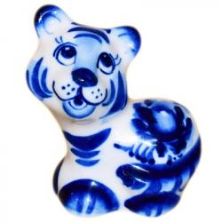 Тигр гжель, 6 см., 2909