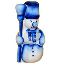 Сувенир Снеговик  Гжель 7  см, 2715
