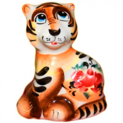 Тигр гжель 8 см., 2932