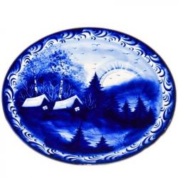 Тарелка настенная с сюжетом,  арт. 9043, 20 см