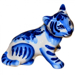 Тигр гжель 10 см., 2937