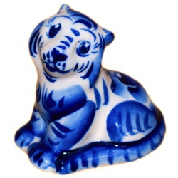 Тигр гжельский 6 см., 2914
