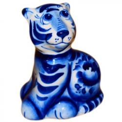 Тигр гжель 8 см., 2931