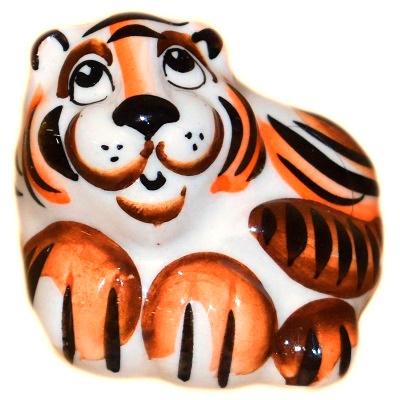 Фигурка тигра из фарфора