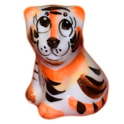 Тигр сувенир фарфоровый