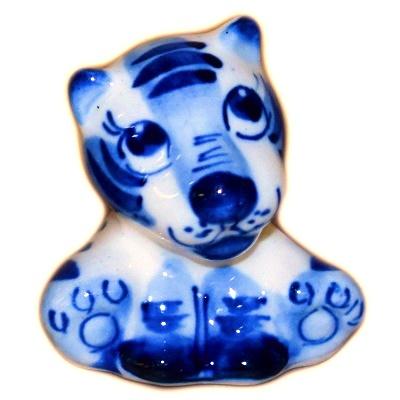 Гжельский тигренок символ 2022