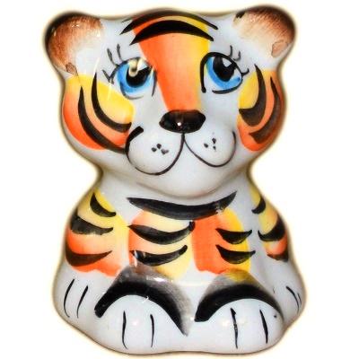 Фигурка тигренка из фарфора